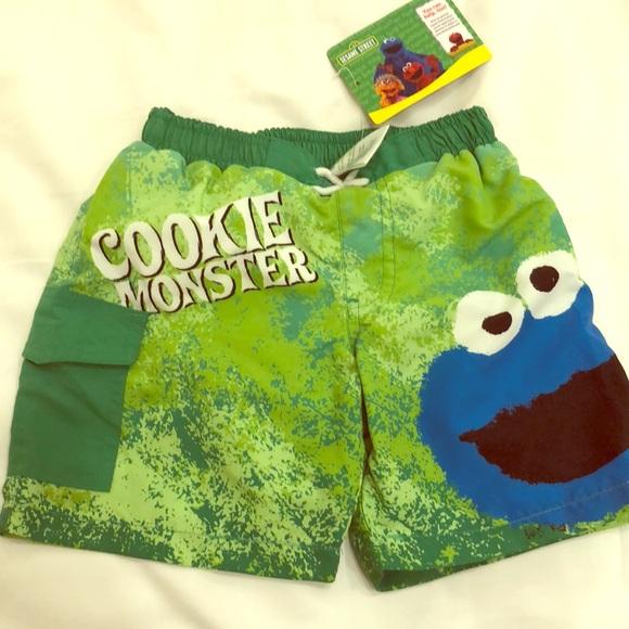 6cd136b48d54d Sesame Street Swim   Cookie Monster Trunks 3t Nwt   Poshmark